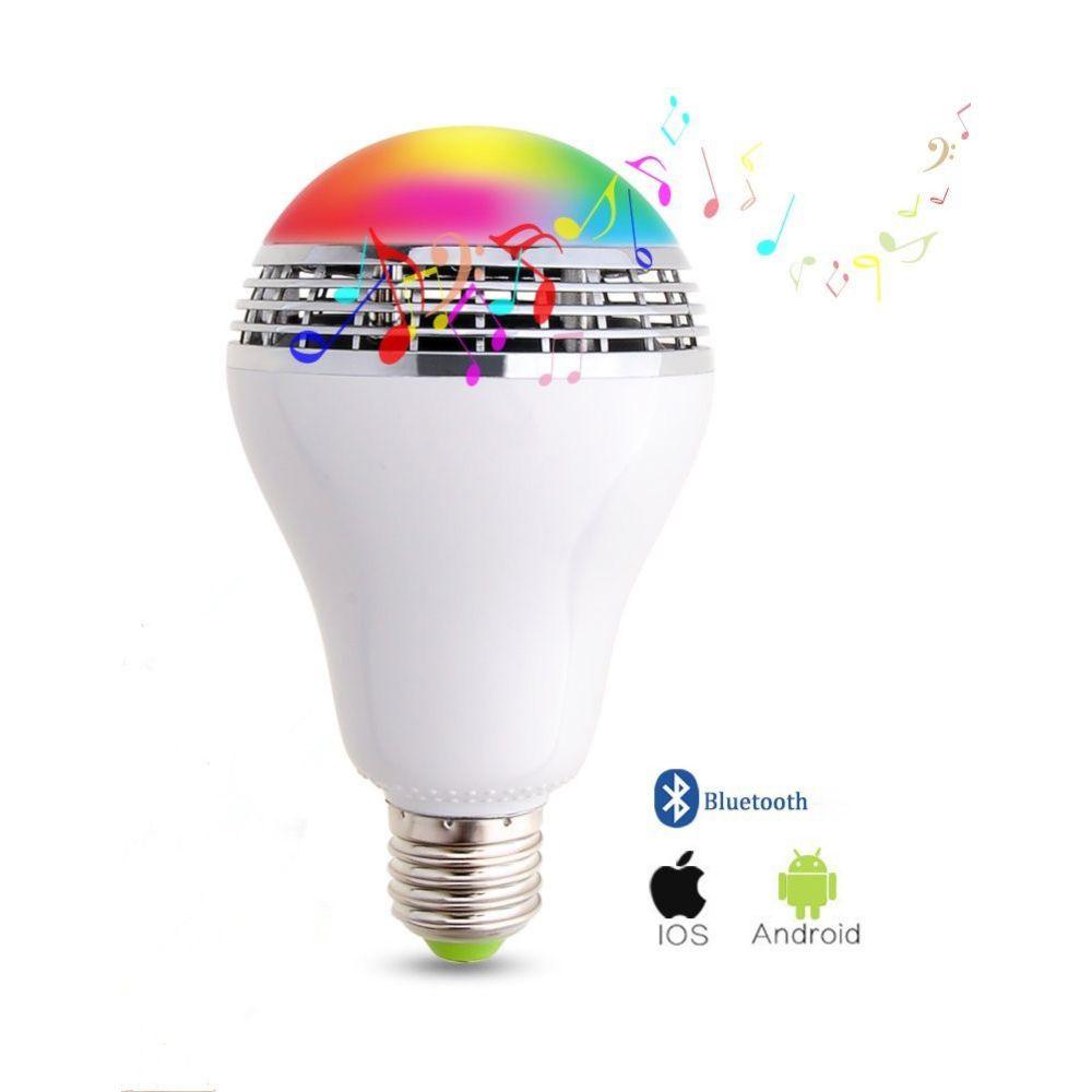 Dimmable E27 10 W RGB LED Ampoule Bluetooth Éclairage Lampe Couleur Réglable Haut-Parleur Musique Lumières Ampoule Avec RF 24key À Distance contrôle
