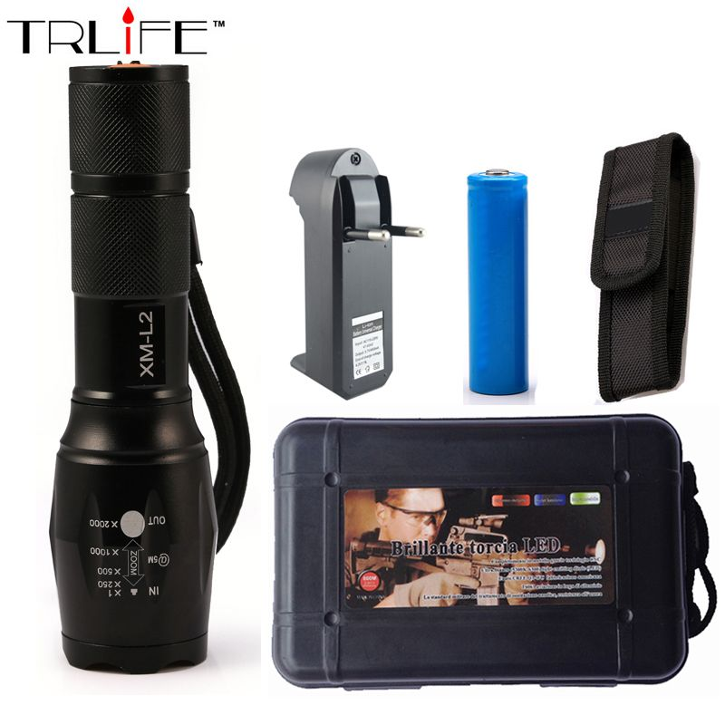 Lanterna CREE XM-L2 6000LM Tactical Flashlight Torch Zoom Linternas LED Flashlight  for 3xAAA or 1x 18650 Rechargeable Battery