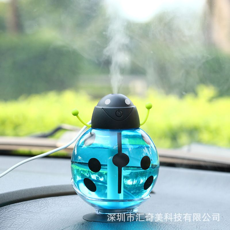 Portable home office creative USB Beatles aromatherapy night light vehicle humidifier humidifier