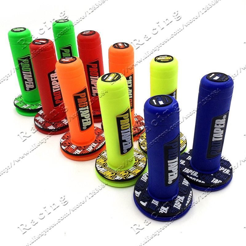 Красочные ручки MX сцепление про сцепление подходит к гель GP мотоцикл грязи яма велосипед резиновые Руль управления для мотоциклов сцеплени...