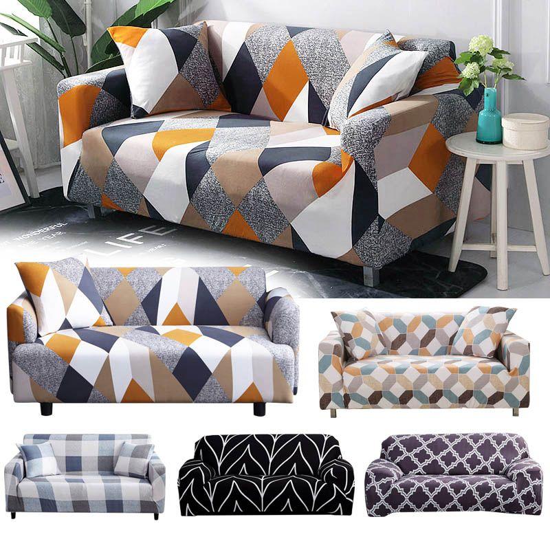 Housse extensible sectionnelle élastique housse de canapé extensible pour salon housse de canapé en forme de L housse de fauteuil simple/deux/trois places