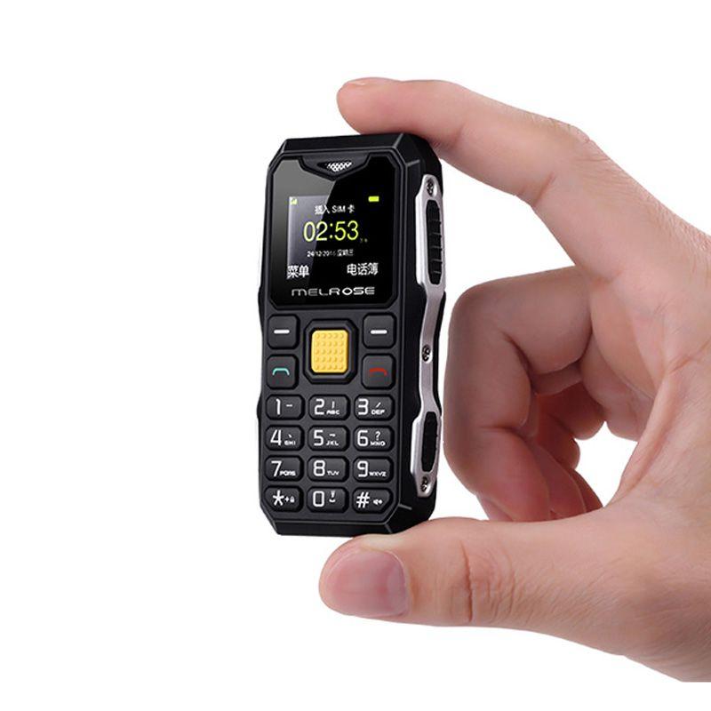 Melrose Mini Military Pocket Bar Telephone Long Standby Big <font><b>Voice</b></font> Flashlight FM Single Sim Smallest Size Spare Mobile Phone P105