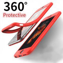 Xinmanrou moda suave TPU cubierta casos para el iPhone 7 caso 360 grados de protección completa del cuerpo 6 7 más caso para iPhone 6 6 s caso