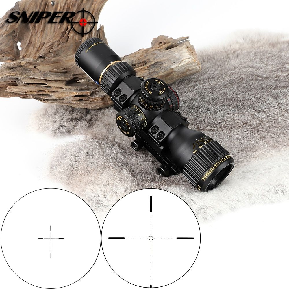 SNIPER VT 3-12X32 Compact First Focal Plane Hunting Rifle Scope Glass Etched Reticle Tactical Optical Sight Riflescopes