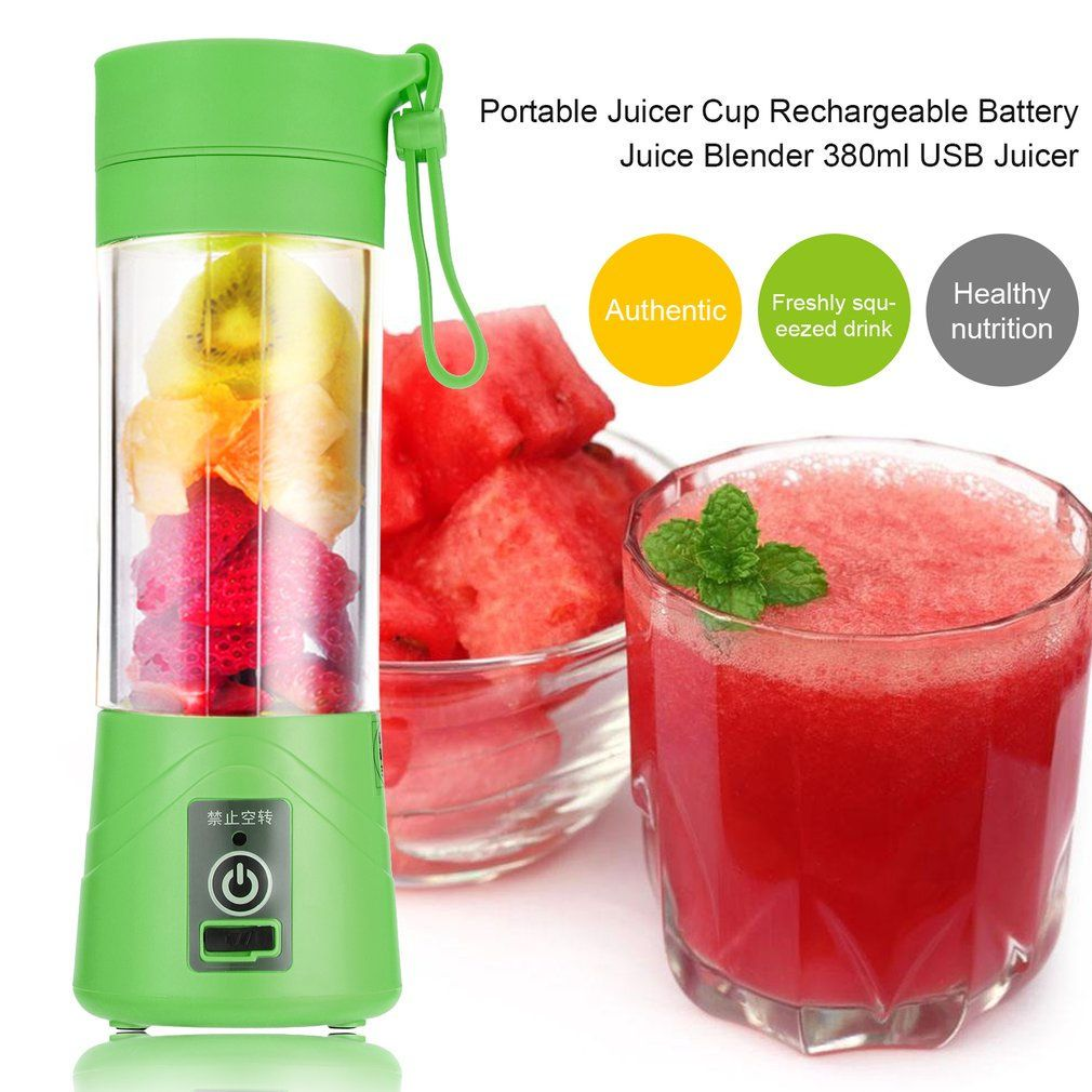 380ml USB Rechargeable Juicer Bottle Cup Juice Citrus Blender fruit Milkshake Smoothie Squeezers Reamers Bottle Drop Shipping