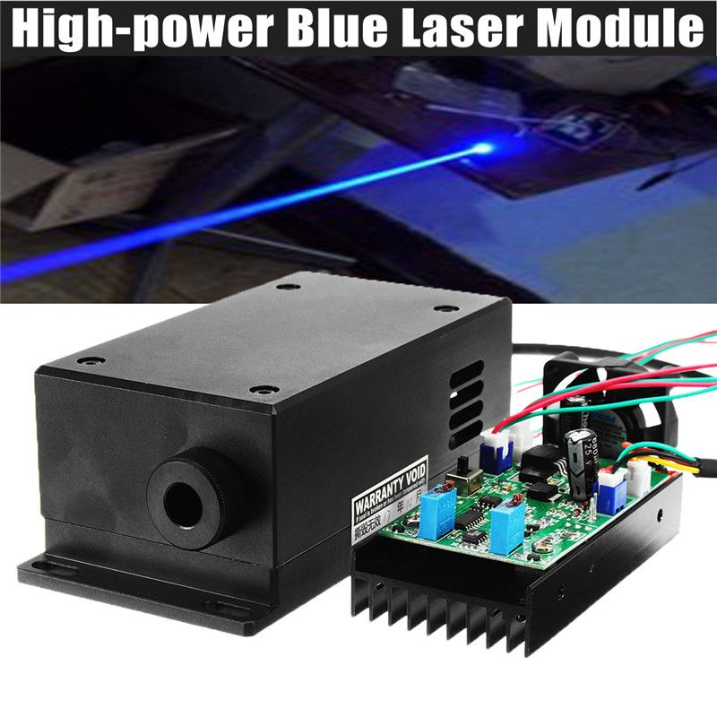 17W High Power Laser Head Engraving Module Adjustable Focal 450/445nm 17000mw Blue Laser Module DIY Wood Metal Engraving Machine