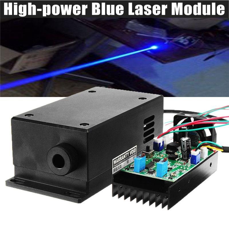 17W High Power Laser Head Engraving Module Adjustable Focal 450/445nm 17000mw Blue Laser Module DIY Wood Metal Engraving Machine