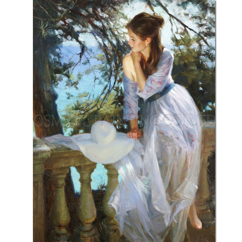 Alte Künstler Handgemacht Hochwertige Impression Schöne Dame Ölgemälde für Wandkunst Handgemachte Schönheit Frau Ölgemälde Bilder