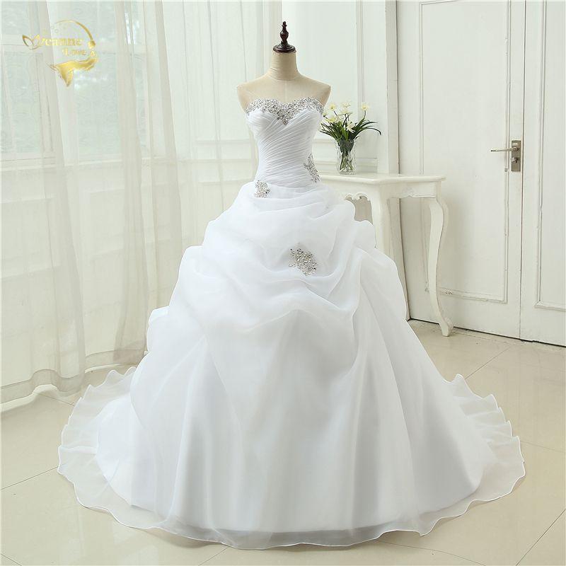 Heißer Verkauf Neue Ankunft Vestido De Noiva EINE Linie Brautkleid Friesen Weiß Elfenbein Hochzeit Kleid 2019 Robe De Mariage casamento OW3199