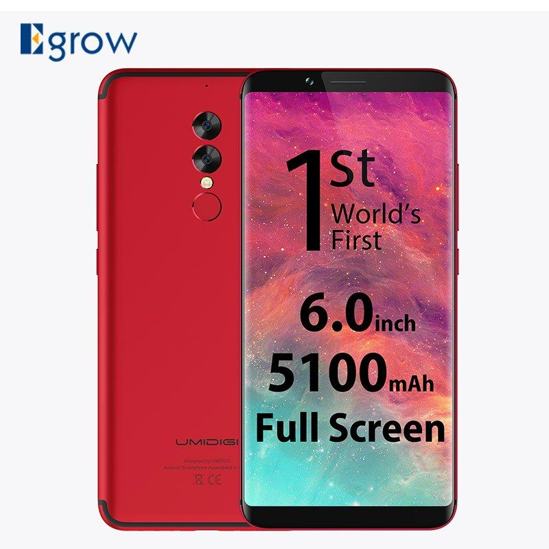 UMIDIGI S2 18:9 Full Screen Mobile Phone MTK Helio P20 6.0