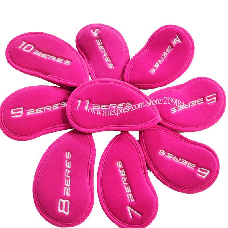 Cooyute Neue Golf headcover HONMA Golf irons kopf abdeckung Rosa Unisex Schädel Clubs kopf abdeckung Set Freies verschiffen