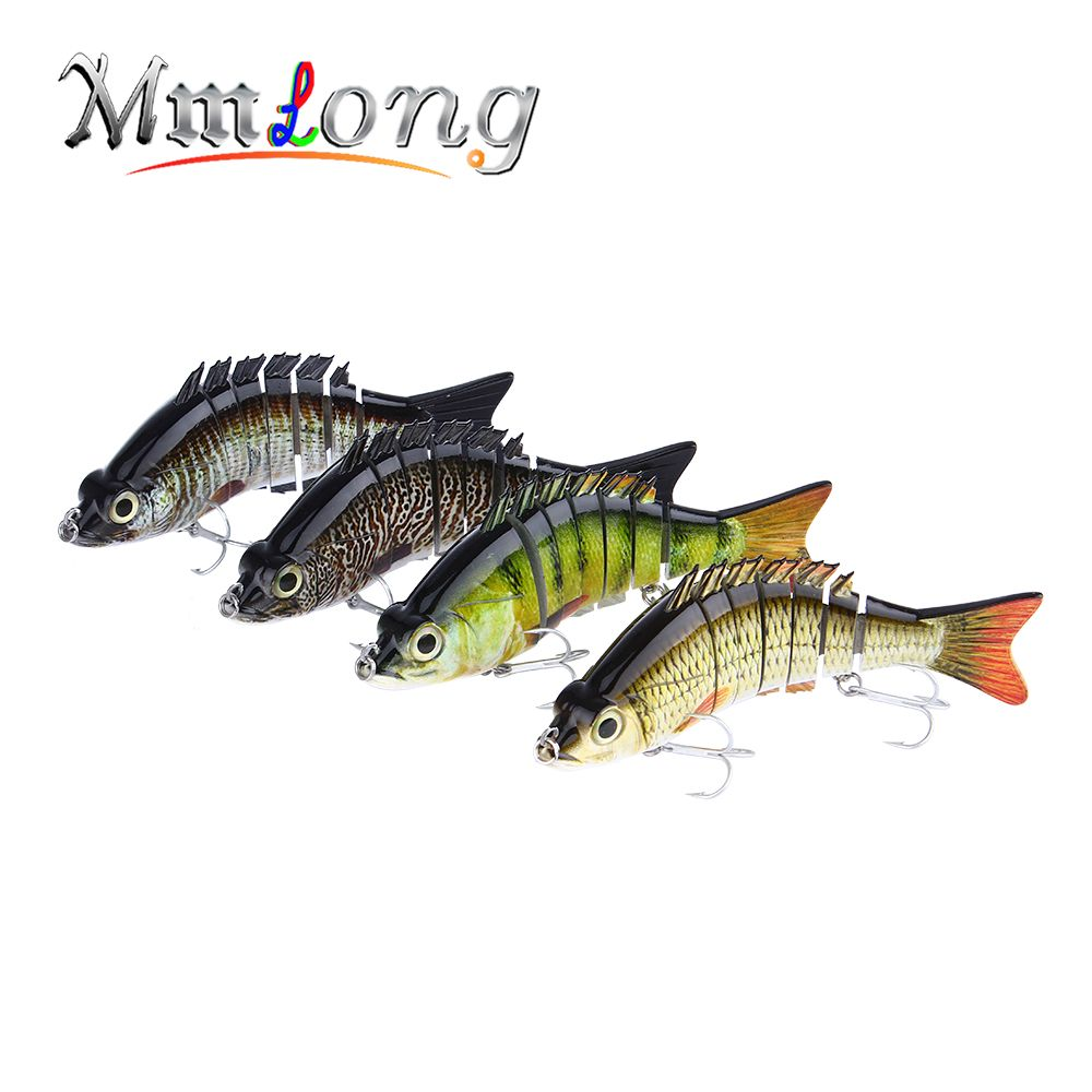 Mmlong 15 cm Multi Articulé Fishing Lure 7 Segment Artificielle Swimbait 59g Réaliste Crankbait Lent Naufrage Dur Bait Tackle ML08B