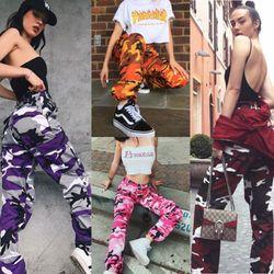 Mode Femmes Camo Pantalon Cargo Casual Pantalon Militaire de L'armée Combat Camouflage Pantalon Jogger