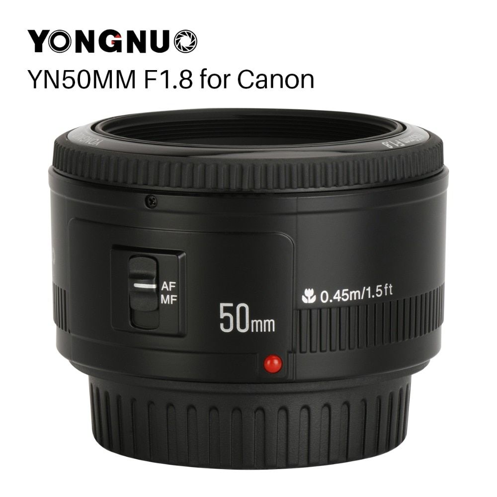 YONGNUO YN50mm F1.8 Camera Lens EF 50mm for Canon Aperture Auto Focus Lenses For EOS DSLR 700D 750D 800D 5D Mark II IV 10D 1300D