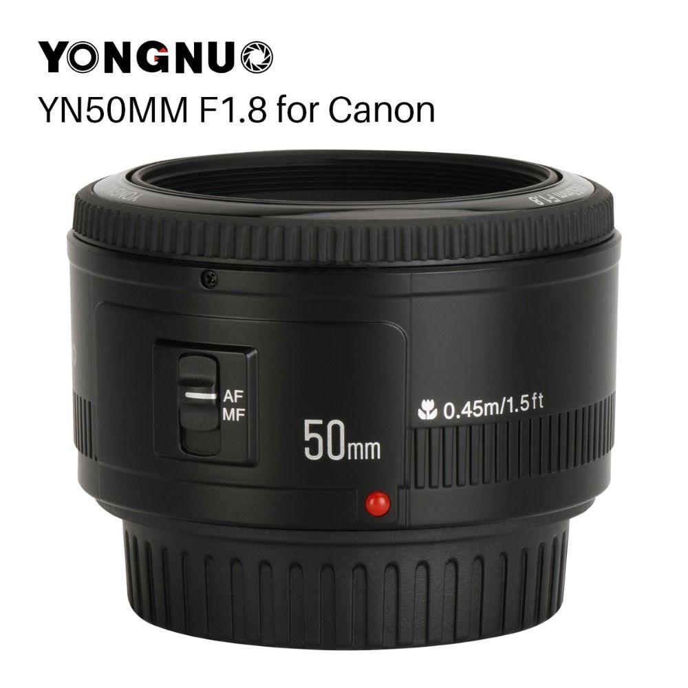 YONGNUO YN50mm YN50 F1.8 Camera Lens EF 50mm AF MF Lentilles Pour Canon Rebel T6 EOS 700D 750D 800D 5D Mark II IV 10D 1300D