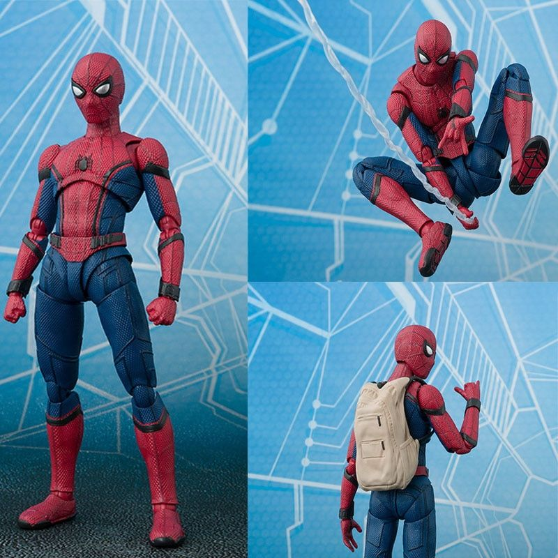 15cm Anime Spider Man Homecoming Action Figure Toy Hot Movie SpiderMan Diy Dispaly Brinquedos Children Birthday Juguetes Gift