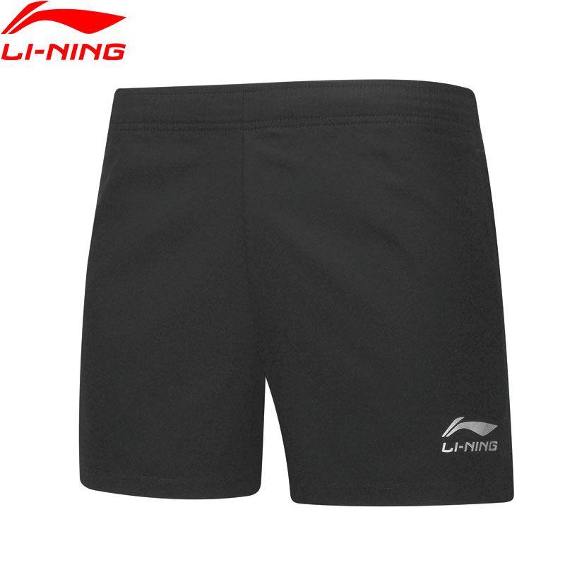 Li-Ning Männer Tischtennis Shorts Atmungs Regelmäßige Fit Teamwear Futter Grund Wettbewerb Sport Shorts AAPP075 CAMJ19