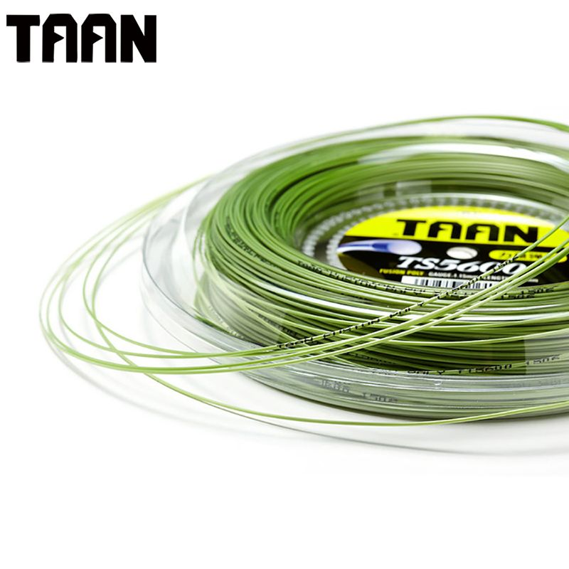 TAAN 1.15mm Tennis String Fusion Poly Durable Tennis Racket Training Power String 50-55 Pounds 200m Reel TS5600