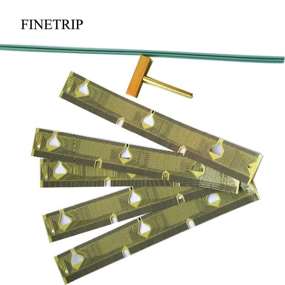 FINETRIP 25% 5x tableau de bord LCD câble de réparation de groupe de pixels morts pour BMW E39 compteur de vitesse E38 E53 X5/1 bande de caoutchouc t-tip