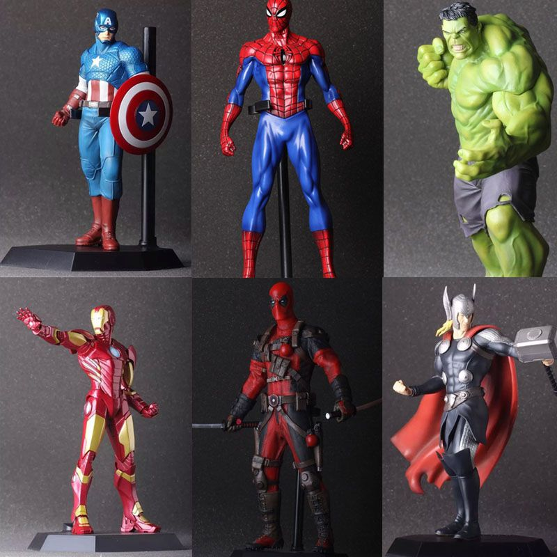 Les Avengers Hulk PVC Deadpool fer homme figurine d'action Thor modèle Collection jouet cadeau Captain America IronMan super-héros Spiderman