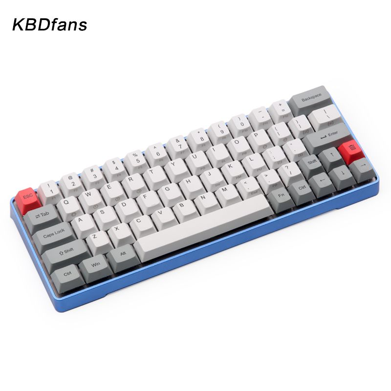 dhl free shipping GK64 Mechanical keyboard 64key  metal shell  custom light  rgb cherry profile kecap dye-subbed keycaps