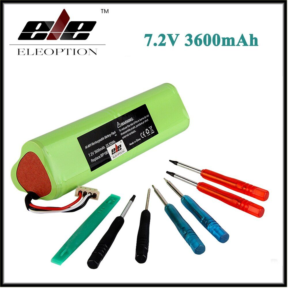 Eleoption 7.2v 3600mAh Ni-MH Replacement Battery For FLUKE BP190 199 199B 199BM 199C 199C/S 199CM F199 F199B F199C With Tools