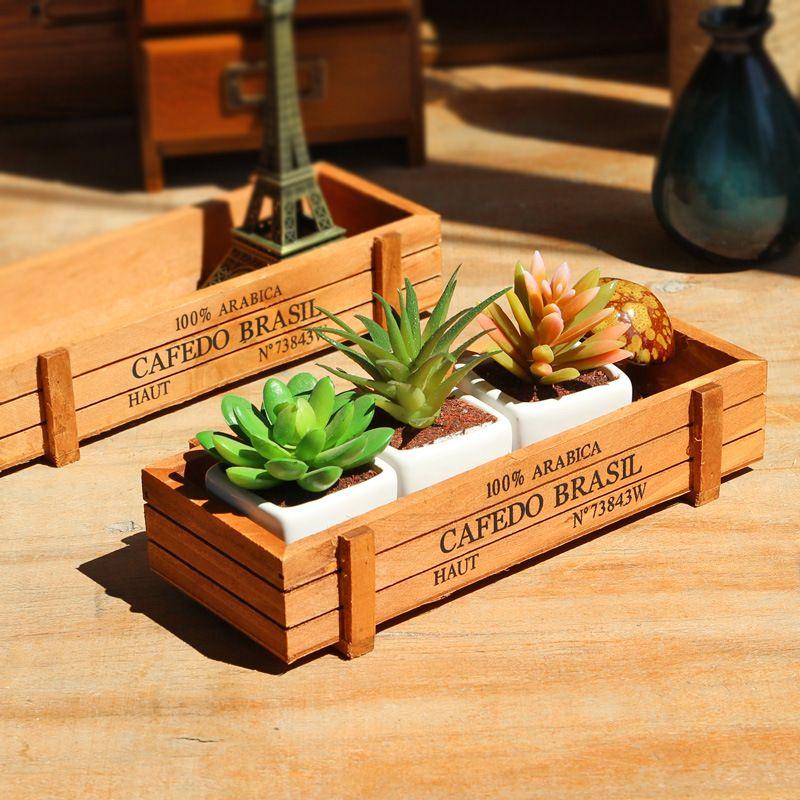 1 pc Antique en bois Table articles divers conteneur cosmétiques organisateur bijoux boîte de rangement décor à la maison boîte de rangement en bois porte-bijoux