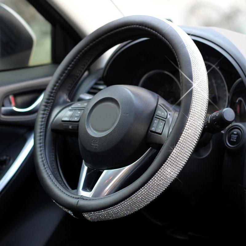 Lunasbore Руль Обложка Авто блестящие алмаз украшения Для женщин девочек подарок для Mercedes Toyota Honda AUDI OPEL Mazda Kia