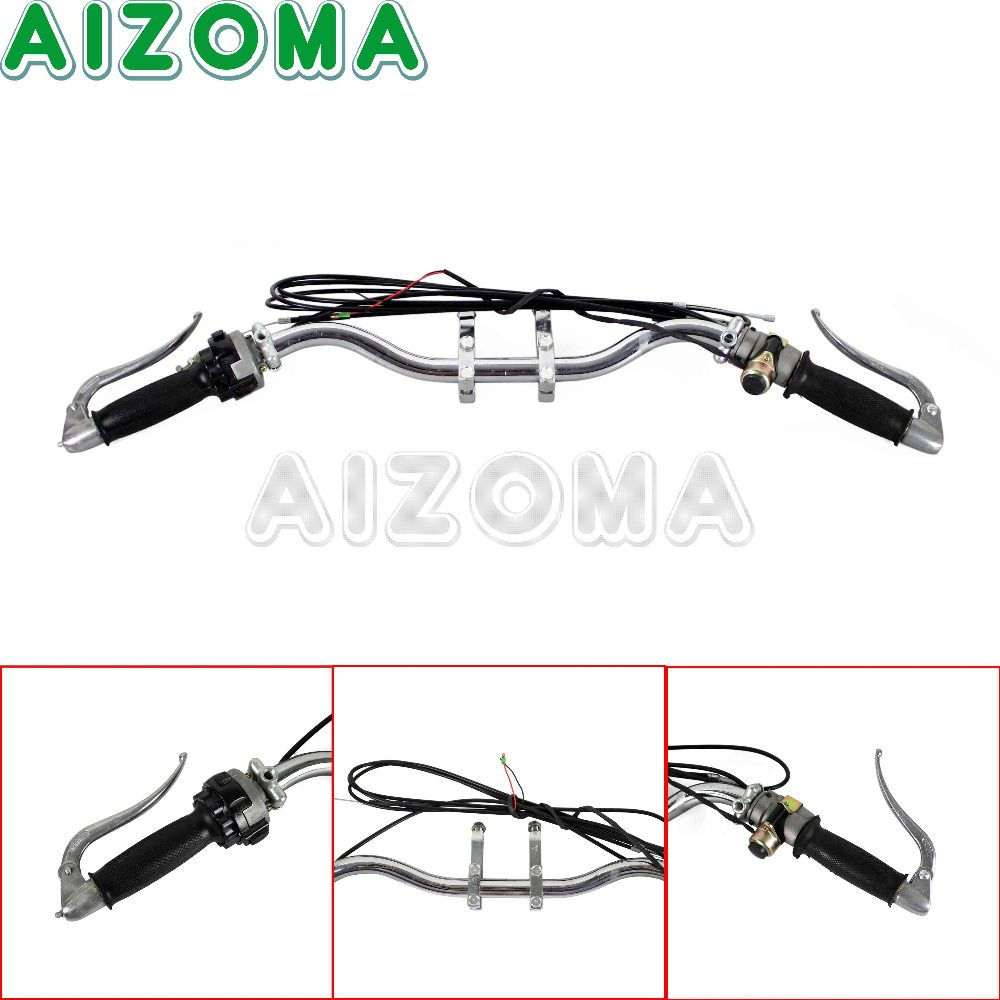 Aluminium Handle Bar Lever Cable Grip Bar Mount Bracket Motorcycle Handlebar Assembly For BMW M72 R75 K750 KS750 Ural Sidecar