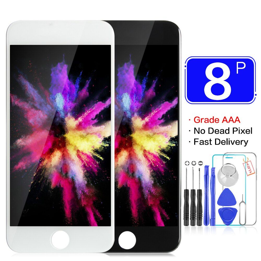 AAA+++ Grade For iPhone 8 8Plus LCD With 3D Touch 100% Guarantee No Dead Pixel Screen Replacement High Quality Display