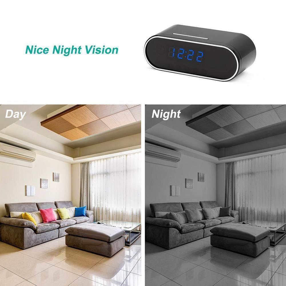 1080P WIFI Mini Kamera Zeit Alarm Wireless Nanny Uhr P2P IP/AP Sicherheit Nachtsicht Motion Sensor Fernbedienung monitor Micro Hause