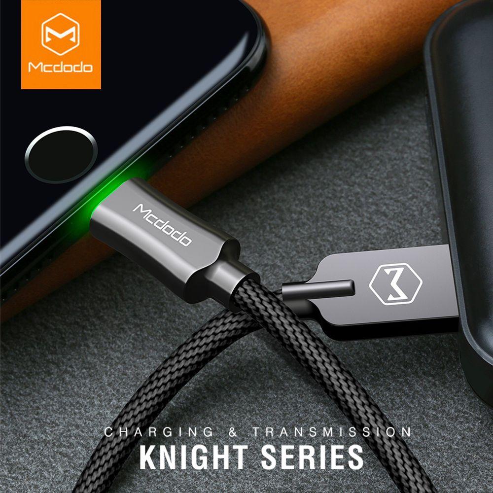 MCDODO Auto Disconnet USB Câble Pour iPhone XS MAX X 7 6 5 6 s plus Rapide De Charge Câble Mobile téléphone Chargeur Cordon Usb Câble de Données
