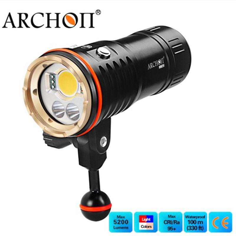 Tauchen Video Licht ARCHON DM20 WM26 5200 LM Diver LED Taschenlampe Blau Rot Fotografieren Wasserdichte Unterwasser Licht Mit Batterie