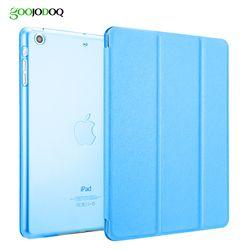 Тонкий Смарт чехол для iPad Mini 1 2 3 4 из искусственной кожи Smart Cover Tri-Fold Стенд для Apple iPad мини 4 Чехол прозрачный ПК Жесткий Вернуться