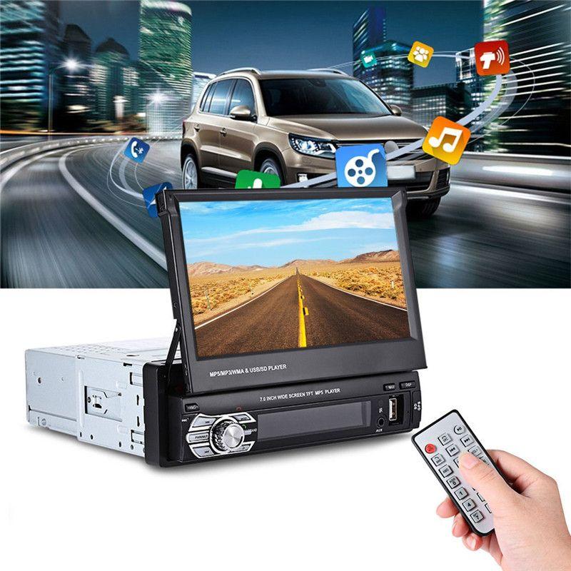 Универсальный 9601 г GPS 7 дюймов tft ЖК-дисплей Экран 1080 P Автомобильный Мультимедийный Плеер bluetooth fm Радио плеер mp5 мультиобласти географические...