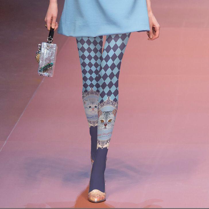 Medias Pantis Woman Tights Real High-grade Printed Stockings Japan's Original Sufeng Kitty Grid Pantyhose Fashion Shows Elegant