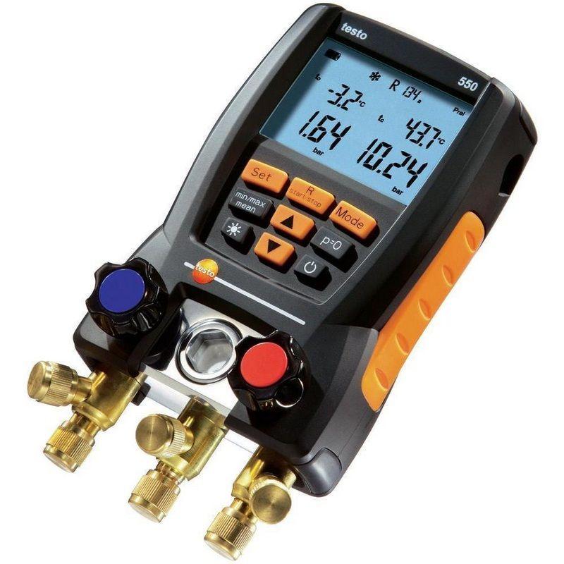 Digitale Verteiler Kit Kälte Testo 550 0563 1550 mit 2 stücke Klemme Sonden Elektronische Kältemittel Meter Set