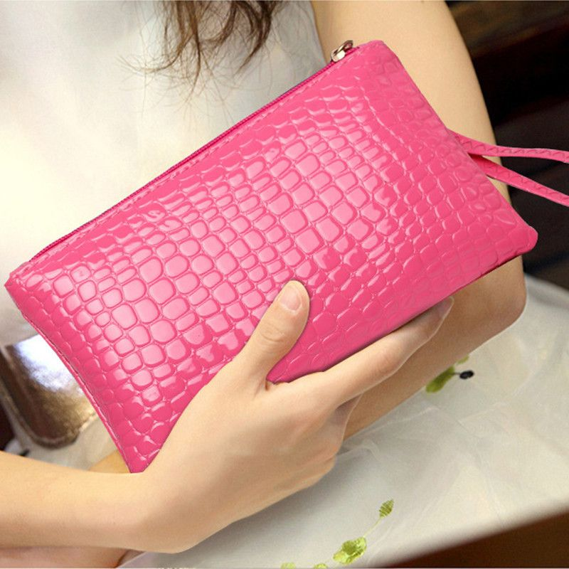 Ladies handbag fashion crocodile pattern Korean version of the purse women bag