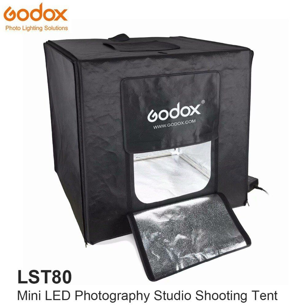 Godox Mini LED Photography Studio Shooting Tent 80*80*80cm LST80 3PCS LED lamp band Power 60W 13500~14500 Lumen with Carry Bag