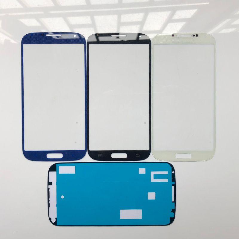 Touchscreen Ersatz Für Samsung Galaxy S4 S IV i9500 i9505 i9506 m919 i337 Vorderseite Outer Glasabdeckung Objektiv mit Klebstoff