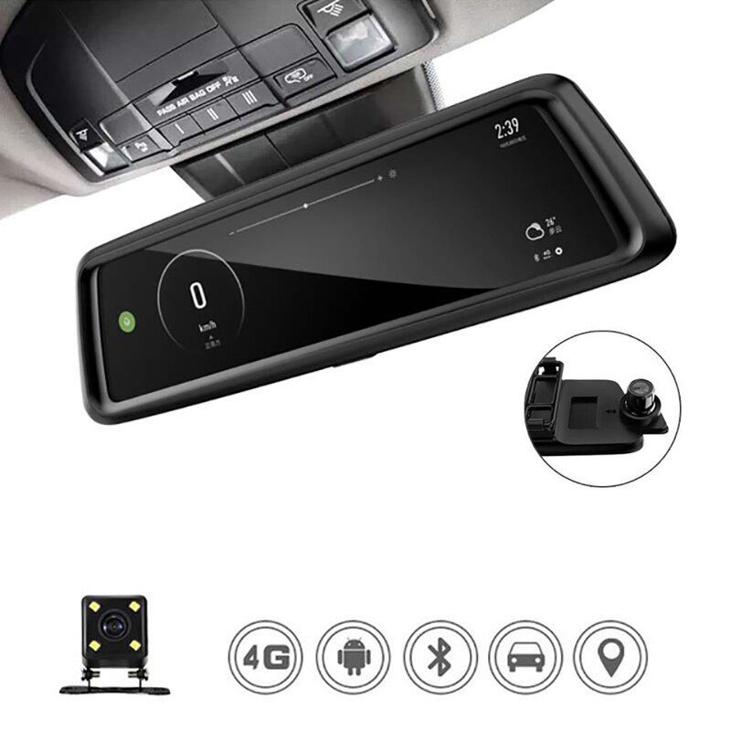 ANSTAR 1080P Dvr Dash Camera 10'' Touch Screen Car DVR Video Recorder 4G ADAS Parking Rear View Rearview Mirror Monitor Camera