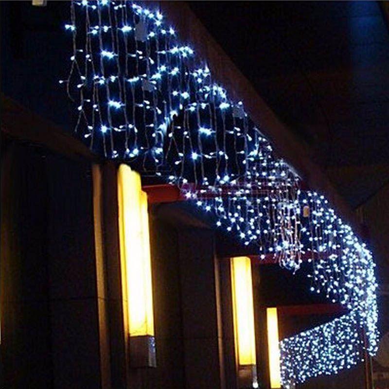 Lumières de noël en plein air décoration 4 mètre droop 0.3-0.5 m led rideau glaçon chaîne lumières nouvel an de noce guirlande lumineuse