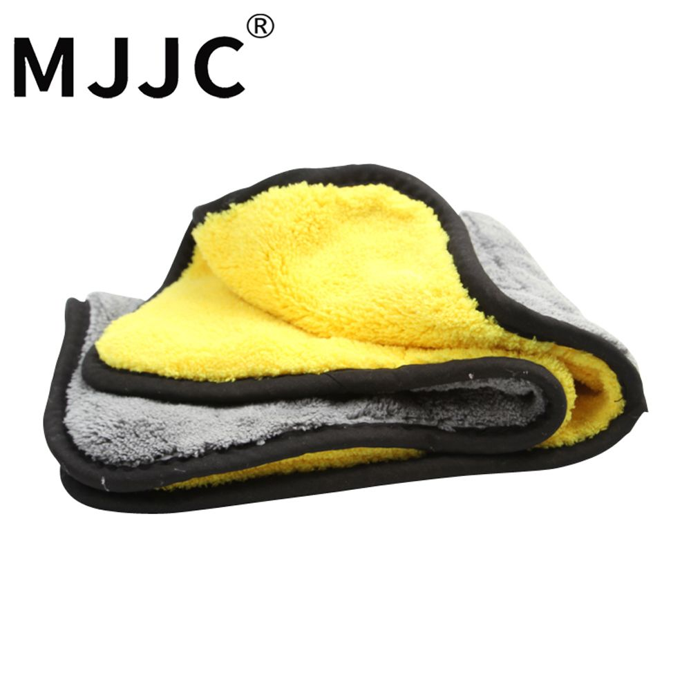 MJJC Brand 2017 High Quality 900gsm - 1000gsm Plush Drying Microfiber Towel double sides 38x45cm Car Cleaning Towel