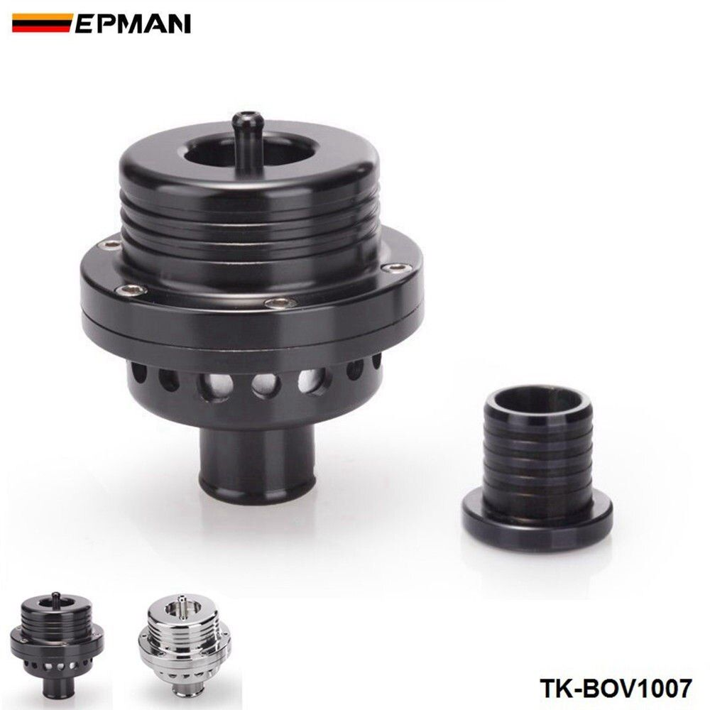 EPMAN Sport 25MM Dual Piston BOV Blow off  Turbo For Audi A4 S4 Golf Jetta 25 PSI TK-BOV1007 Silver