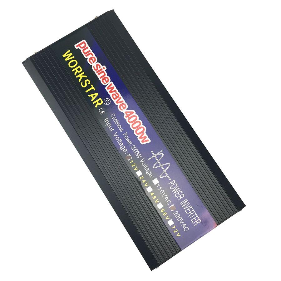 SUCHWORK Spitzen 4000 W Reine Sinus Welle OFF Grid Inverter DC12V/24 V zu AC220V 50 HZ/60 HZ Power Inverter für Reiskocher/Hand Bohrer