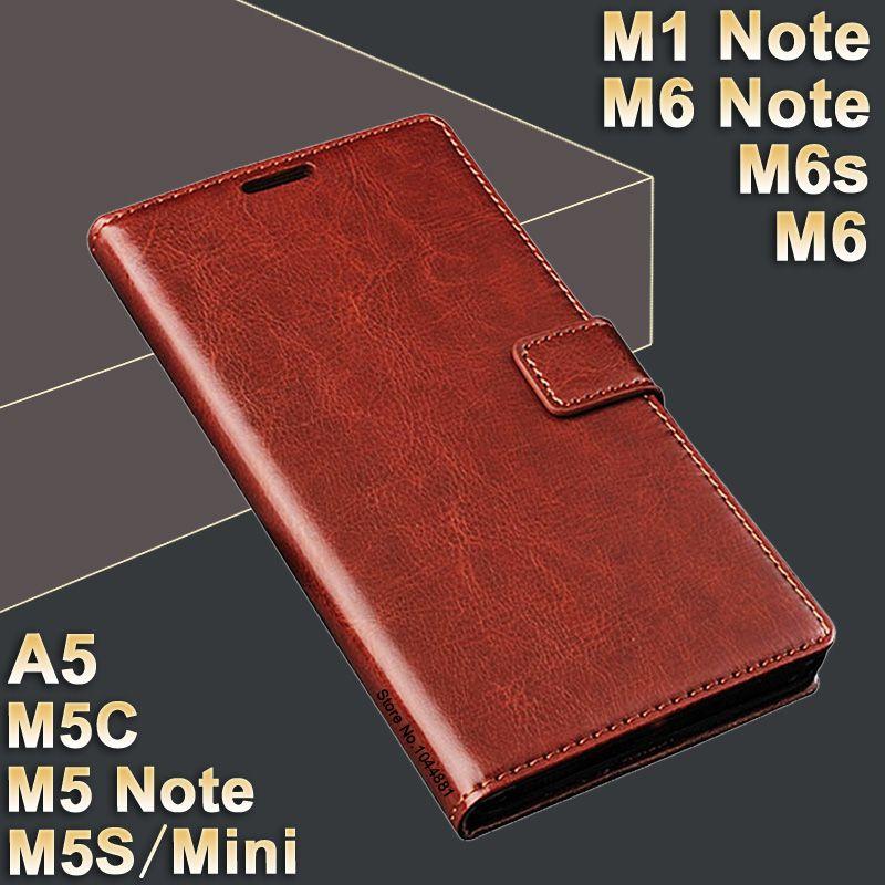 MeiZu M5 Note m 5 case leather MeiZu M1 Note case High Quality case for MeiZu M6 Note/M6s/M 6 Cover Flip PU M5S Meizu M5C case