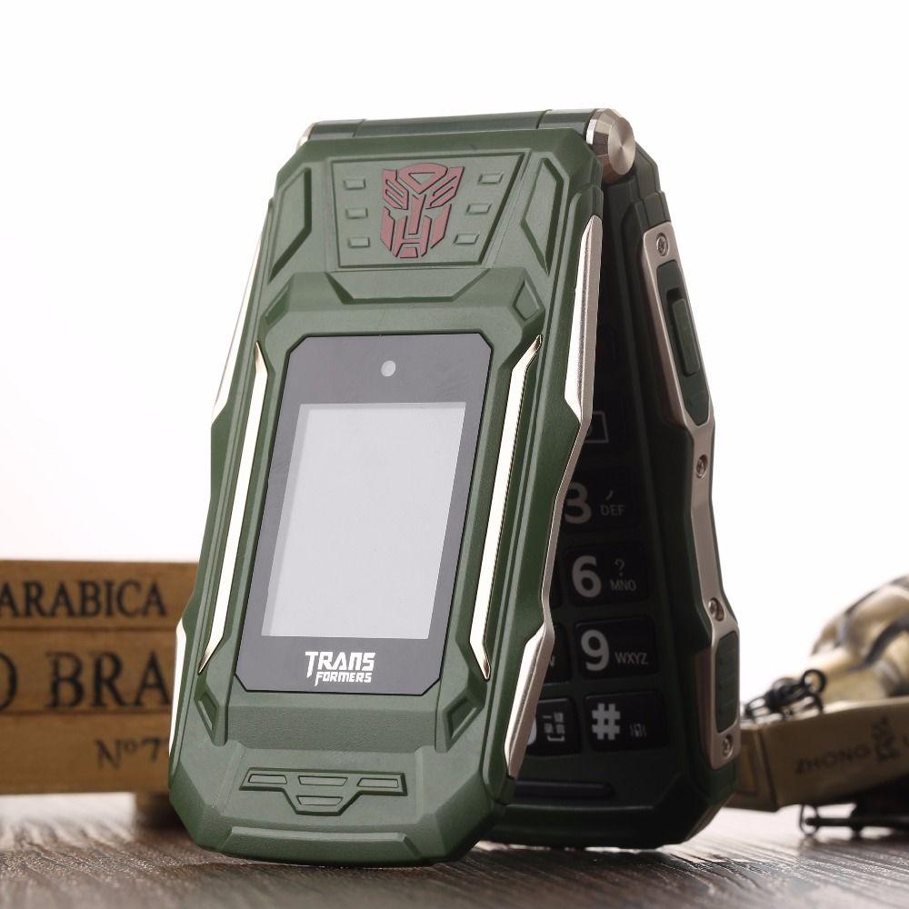 Trans X10 VS X9 Touch Dual Screen Flip Phone Power Bank Long Standby Flash Light Torch Big Russian Key <font><b>Rugged</b></font> Senior Phone P280