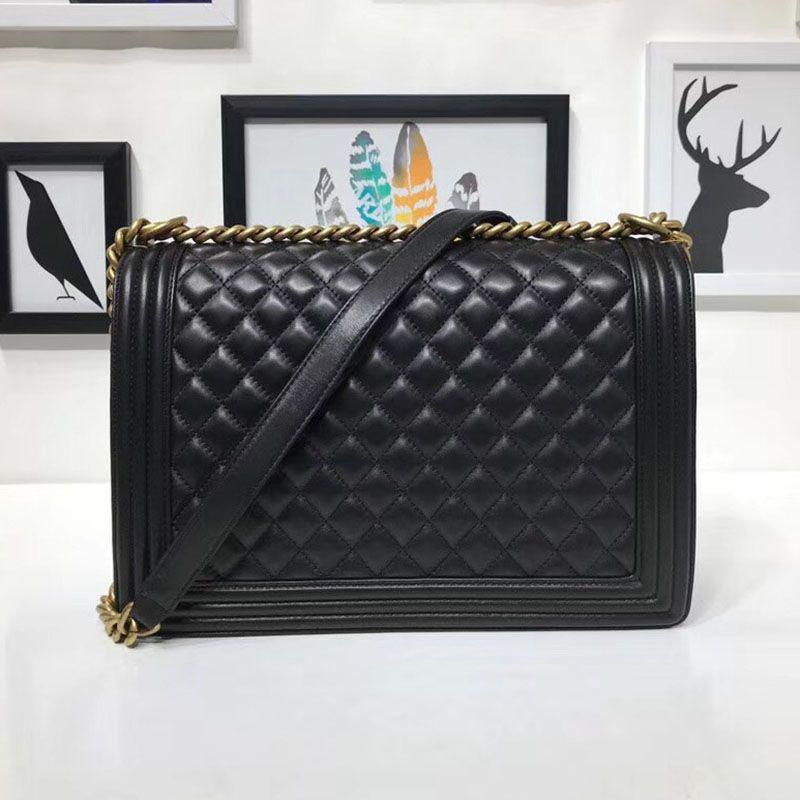 Luxus lammfell echt leder schulter taschen top qualität frauen marke handtaschen crossbody-tasche Weibliche klassische Le Boy flap kette taschen