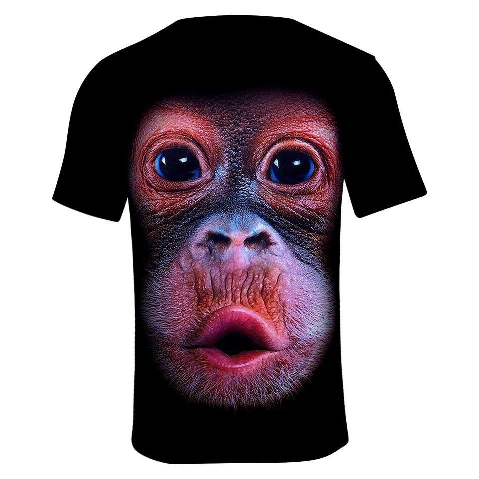 orangutans T-shirt Cosplay Costumes Funny gorilla digital print youth summer mesh breathable 3D short sleeve shirt T-shirt