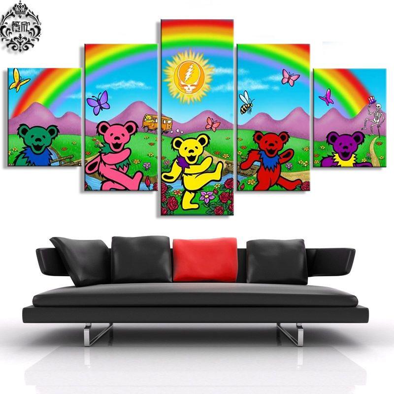 Toile imprimée peinture 5 pièces reconnaissant mort mur Art affiche décor à la maison pour salon moderne œuvre photos cadre Cuadros